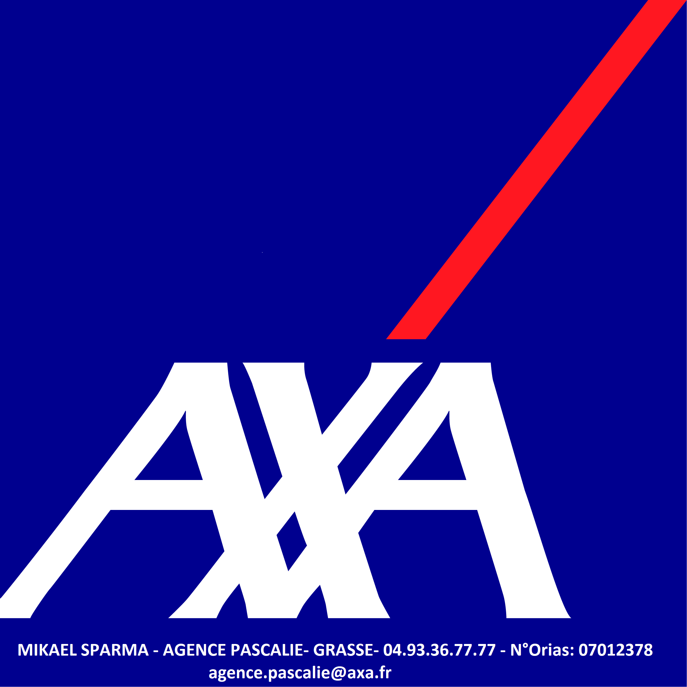 Mikaël SPARMA - AXA agence Pascalie- 67 route de Cannes 06130 Grasse- agence.pascalie@axa.fr - 04.93.36.77.77.N° Orias : 07012378